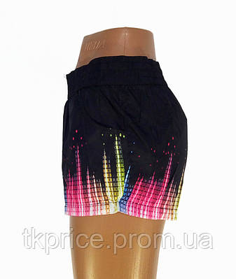 Женские шорты реплика Adidas черные, фото 2