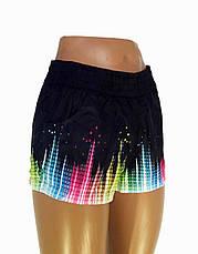 Женские шорты реплика Adidas черные, фото 3