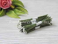 Тайские тычинки белые, мелкие на зеленой нитке, фото 1