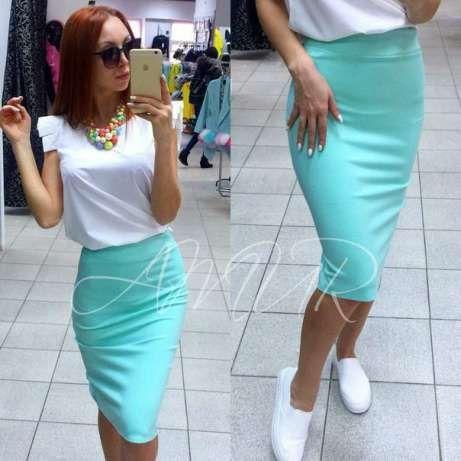Женская яркая модная юбка-карандаш миди, разные размеры, разные цвета.  Розница, 14d8287a881
