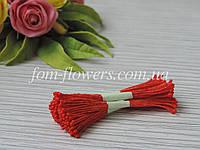 Тайские тычинки красные, мелкие на красной нитке
