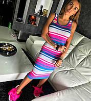 Платье Doratti модное миди вязка хлопок разные цвета SMdor1568