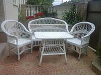 """Набор мебели из лозы """"Белая роза"""" Код 6661, фото 1"""