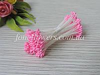 Тайские тычинки розовые, каплевидные на белой нитке, фото 1