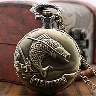 Карманные мужские часы на цепочке отличный подарок рыбаку