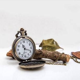 Кишенькові чоловічий годинник на ланцюжку тигр, фото 2