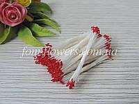 Тайские тычинки красные, супер мелкие на белой нитке
