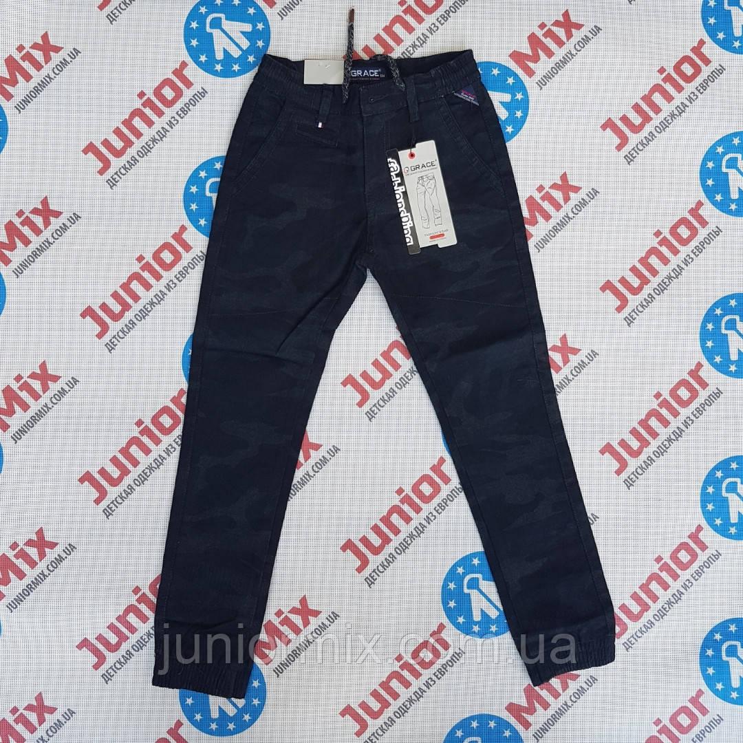Котоновые подростковые брюки на манжете для мальчика GRACE