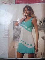Женский трикотажный домашний сарафан для сна, фото 1