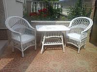 """Набор мебели из лозы """"Белая роза (мини)"""" Код 3313"""