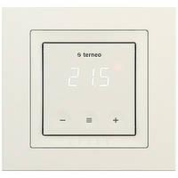 Цифровой сенсорный терморегулятор Terneo s unic (слоновая кость) для теплого пола