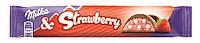 Шоколадный батончик  Milka & Strawberry  Baton , 36,5 гр