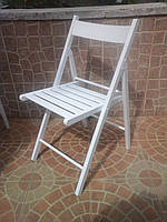 Складной стул из лозы белый