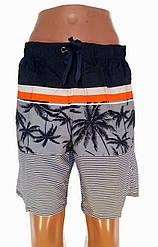 Трикотажные мужские шорты в полоску