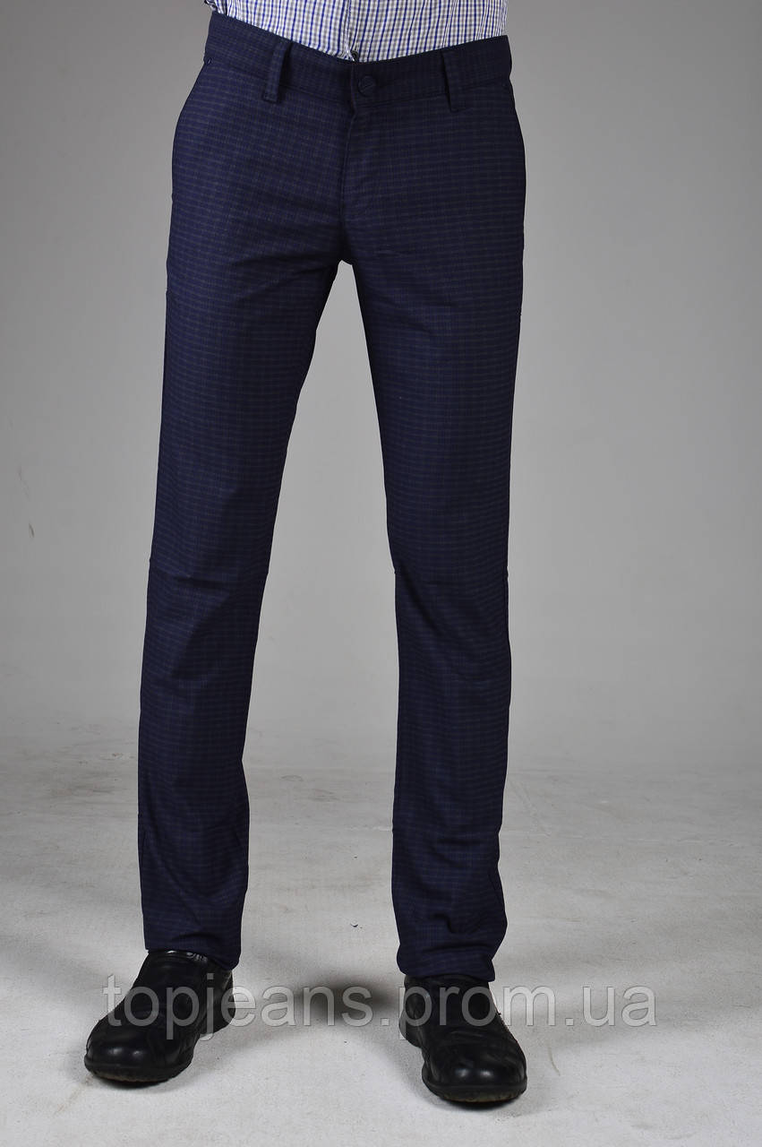 fda1e473dd6 Модные мужские брюки стильные подуженные с коричневой клеточкой - TopJeans  в Харькове
