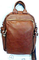 Сумка-рюкзак  молодежный к/з 3312  рыжий