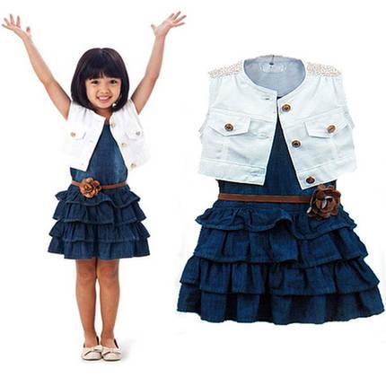 Платья для девочек. Сарафан джинсовый для девочки , фото 2