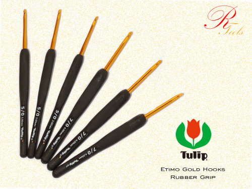 Вязальный крючки Tulip Etimo с мягкой ручкой