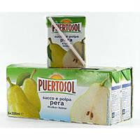 Сок грушевый с мякотью Puertosol 200 мл Италия