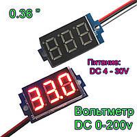 Цифровой вольтметр DC 200v-измерение  DC 4-30v питание, фото 1