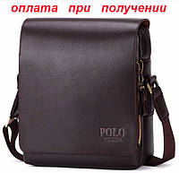 Мужская кожаная фирменная сумка барсетка Polo Kangaroo Kingdom Кенгуру