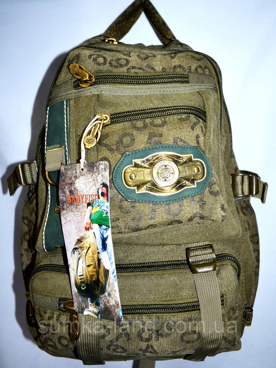 Котоновый рюкзак городской 29*40 (хаки)
