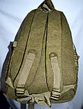 Котоновый рюкзак городской 29*40 (хаки), фото 3