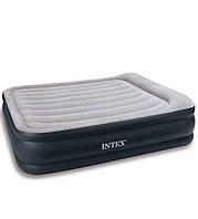 Двухспальная надувная флокированная кровать Intex 67736 203 х 152 х 43 см, фото 1