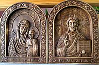 Венчальная пара. Икона Казанской БМ и Спасителя