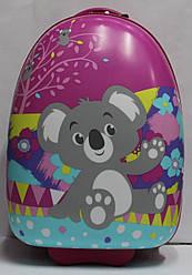 Чемоданы для путешествий детский дорожный  ручная кладь качество Люкс Josepf Ottenn Коала розовый 2182
