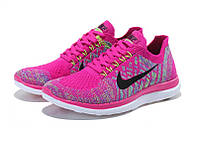 Кроссовки беговые Nike Free Flyknit 4.0 Rose Flash Pink