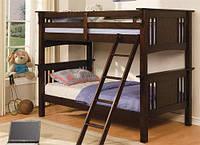 """Кровать двухъярусная массив ольхи """"Черника"""""""
