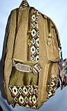 Котонові рюкзак міський 30*46 колір хакі, фото 2