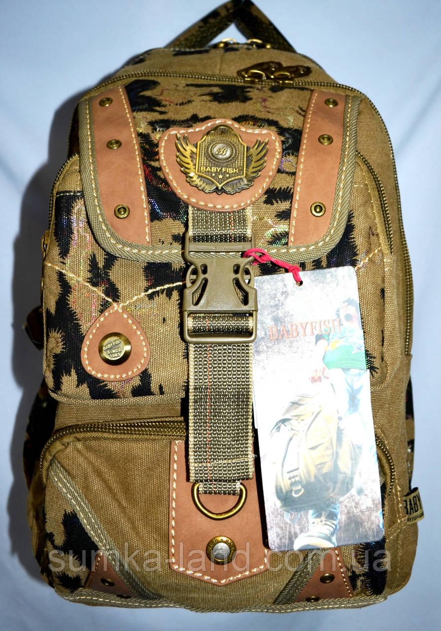 Котонові рюкзак міський 30*46 колір хакі