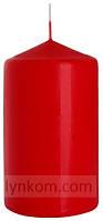 Свеча красная цилиндр 7х12см декоративная