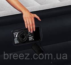 Велюровая надувная кровать Intex 64122, черная 191 х 99 х 42 см, фото 2