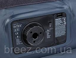 Велюровая надувная кровать Intex 64122, черная 191 х 99 х 42 см, фото 3