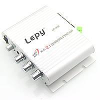 Аудио усилитель Lepy LP-838 2.1 3х20Вт 12-18В стерео+сабвуфер