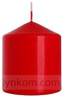 Свеча цилиндр 8х9см красная декоративная