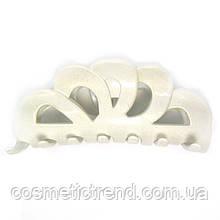 Заколка-краб Корона (белый перламутр)128003 (Франция)
