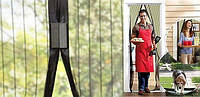 Акция! Антимоскитная сетка штора на дверь на магнитах