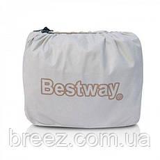 Двухспальная надувная флокированная кровать Bestway 67570, белая,со встроенным насосом 220V, 203 х 152 х 56 см, фото 3