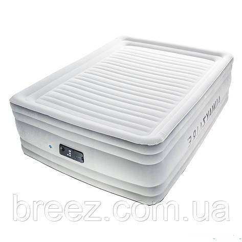 Двухспальная надувная флокированная кровать Bestway 67570, белая,со встроенным насосом 220V, 203 х 152 х 56 см, фото 2