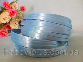 Обруч металлический с атласной лентой, ГОЛУБОЙ, 0,6 см