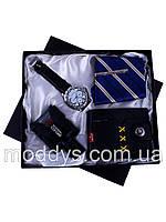 Подарочный набор: часы, кошелек, галстук, туал. вода
