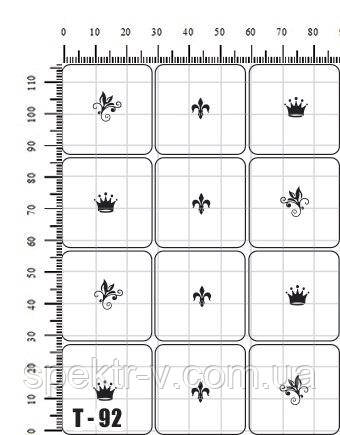 Многоразовые трафареты для аэрографии на ногтях