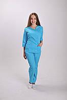 Женский медицинский костюм Ac-40(бирюзовый )