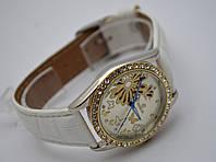 Женские часы GOER - Fly - механические с автозаводом, цвет золото на белом ремешке