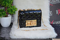 """Сумка в стиле """"Chanel"""" мини, лаковая,черная., фото 1"""