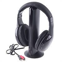Наушники беспроводные радио HQ-Tech MH-2001 (5-in-1), FM радио, аудио монитор